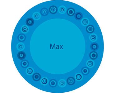 ... Modern Dot Plate. melamine_modern_dot_blue_plate  sc 1 st  WhataDish.com & Blue Modern Dot Plate - What a Dish!