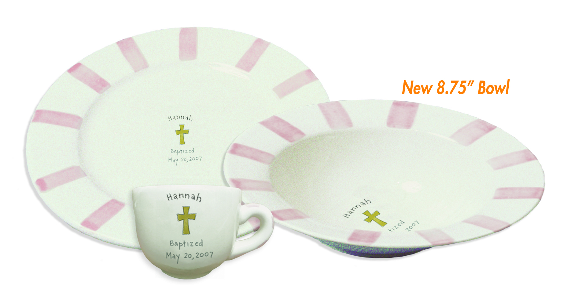 baptism pink dish set 2  sc 1 st  WhataDish.com & Baptism In Pink Dishes - What a Dish!